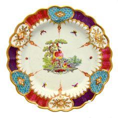 Worcester Porcelain Plate 'Mrs Arthur James' Pattern 1765-1770