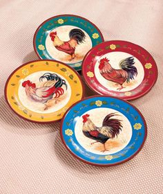 sc 1 st  Pinterest & Beautiful 222 Fifth Regal Rooster Plates | On Rooster plates and Etsy