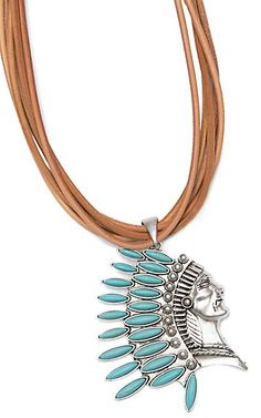 Wired Heart Tan Suede Leather Multi-Strand With Silver and Turquoise Headdress Pendant Necklace Cowgirl Jewelry, Western Jewelry, Horseshoe Necklace, Cowboy And Cowgirl, Gypsy Soul, Headdress, Suede Leather, Turquoise Necklace, Jewelry Accessories