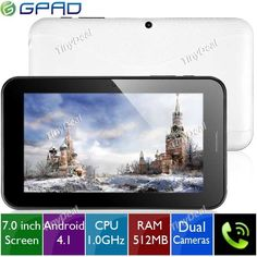 """(LENOVO) LePad A2207 7"""" Android 4.0 MTK8377 Dual-core 3G Tablet Phone w/ GPS WiFi Camera CPU 1GHz RAM 1GB HD 16GB L-135647 http://www.tinydeal.com/es/lenovo-a2207-7-android-40-mtk8377-dual-core-3g-tablet-phone-p-75709.html"""