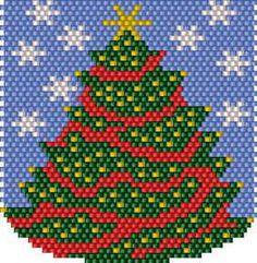 Resultado de imagen para pinterest tejidos de navidad en chaquira