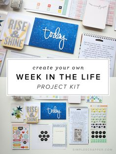 How to create your own kit for Ali Edwards' Week in the Life - I was a little shocked at how easy it was to compile a coordinated scrapbook kit from my stash - and in under 30 minutes.