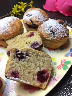 Blackberry yogurt muffins from the Airfryer .- Brombeer-Joghurt-Muffins aus dem Airfryer…für den schnellen Kuchenhunger Blackberry yogurt muffins from the Airfryer … for a quick cake craving – baking with passion - Blackberry Cake, Healthy Dessert Recipes, Health Desserts, Easy Oven Recipes, Muffins Sains, Healthy Chip Alternative, Quick Cake, Breakfast Plate, Salads