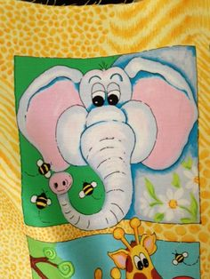 "Sweet, sweet Elly the elephant from ""Alligator Tales""  - my upcoming collection for Red Rooster.  Due in quilt shops Jan/Feb 2013!"