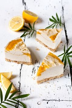 Raw Coconut Mango Cheesecake. This looks delicious! #recipe