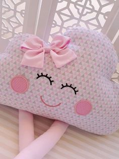 Cute Cushions, Cute Pillows, Baby Pillows, Cloud Nursery Decor, Baby Room Decor, Baby Sewing Projects, Sewing For Kids, Pillow Crafts, Baby Kit