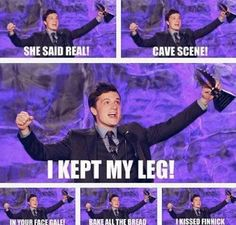 I. CANNOT. STOP. LAUGHING. PEETA WIN!<<< I KISSED FINNICK…