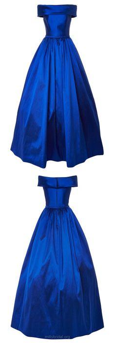Royal Blue Prom Dresses Long, Princess Party Dresses Off-the-shoulder, Satin Formal Evening Dresses 2018 Elegant