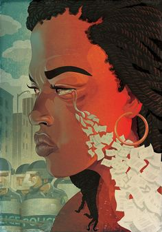 Paul Lachine Illustrations - Freddie Gray Section Cover for The Baltimore Sun