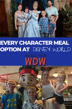Find every single character meal option available at Walt Disney World. Find out your food options and which characters you can meet at the parks and resorts. Disney world planning tips and tricks to help you get the most out of your vacation Disney Resorts, Walt Disney World Vacations, Disney Travel, Family Vacations, Disney Cruise, Solo Travel, Family Travel, Disney World Characters, Disney World Food