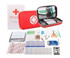 First Aid Kit Portable Waterproof 91 Pack Necessary Hospital Grade Medical Supplies for Emergency Survival Situations Oziral Medical Kit Case for Home Outdoors Boat Car Camping Workplace Sport Care Care Aid Care Massage Tools Care Supplies Hiking First Aid Kit, Dorm Room Accessories, Support Hose, Boat Safety, Bandage, Medical Equipment, Workplace, Outdoors, Homestead Survival