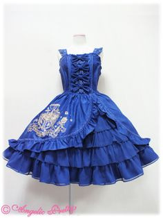 Lolibrary | Angelic Pretty - JSK - Secret Treasure Chest JSK black or blue only