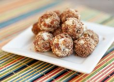 Goat cheese bacon ball