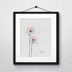 Dandelion Watercolor painting art poster Printable Home decor Wall art print