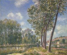 Spring Sunshine on the Loing by @artistsisley #impressionism