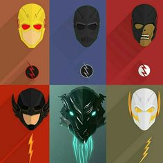 Reverse Flash, Zoom, Black Flash, The Rival, Savitar and Godspeed