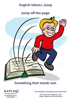 English Idioms: Jump off the page
