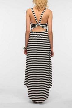 Pins And Needles Knit Open Back High/Low Maxi Dress