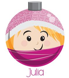 Julia Christmas Ornament - Designed by Heather Martinez Creative Designs