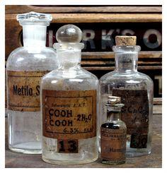 Laboratory bottles. S. America