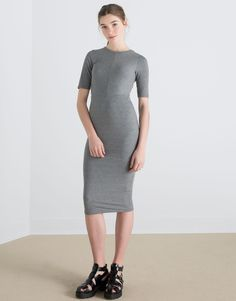 RIBBED MIDI DRESS - NEW PRODUCTS - NEW PRODUCTS - PULL&BEAR United Kingdom