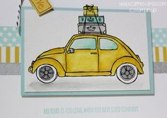 Beautiful ride stamp set from stampin up.