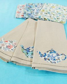 """Decorate a plain tea towel with a cute, handmade teapot applique craft on """"The Martha Stewart Show."""" I could do other designs..."""