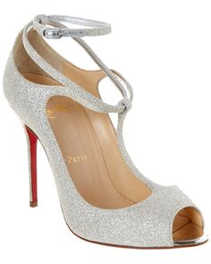 Christian Louboutin Talitha Glitter T-Strap Pump is on Rue. Shop it now.
