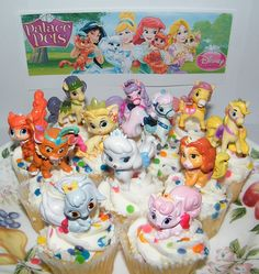 Disney Princess Palace Pets Figure Set Of 12 Mini Cake Toppers / Cupcake  Party Favor Decorations
