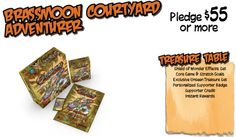Brassmoon Courtyard Level Supporter Rewards for Kickstarter Campaign #GoblinsGame