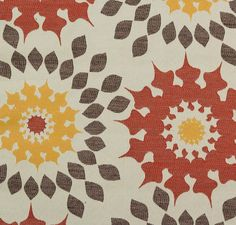 Decorative Pillow- *Designer-Favorites*, Drapes, Curtains, Pillows, Valances, Made-to-Order, Custom Measurement, 'Sunburst', Spice, Marine by PriscillasDraperyDsg on Etsy