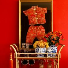 Chinoiserie Chic: The Chinoiserie Bar Cart