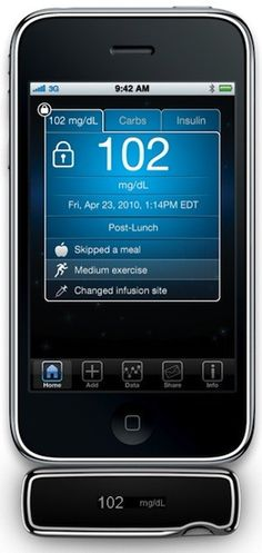 iBGStar blood glucometer attachment for the iPhone, developed by AgaMatrix and commercialized by Sanofi, has received FDA approval. The iBGStar uses the For Your Health, Health And Wellness, Health Care, Health Tips, Type One Diabetes, Diabetes Facts, Cure Diabetes, Personalized Medicine, Blood Glucose Monitor
