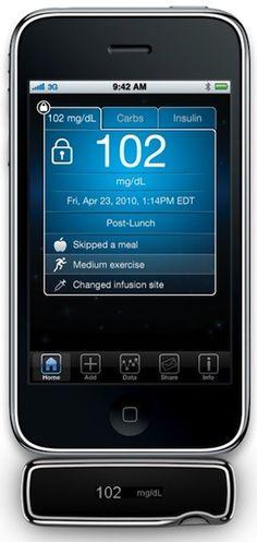 Glucose monitor for diabetics.