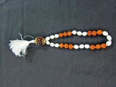 Amazon.com: Rudraksha Beads & Pearl Yoga Mala Combination Yoga Meditation Rosary Mala 27+1 Beads: Indian Designer: Jewelry