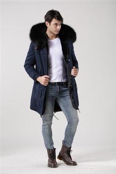Want' to like a product without buying it, check this one out Gentleman style w... only available on Costbuys http://www.costbuys.com/products/gentleman-style-winter-long-jacket-mr-furs-coats-dark-blue-shell-black-inside-real-raccoon-fur-hooded-parka?utm_campaign=social_autopilot&utm_source=pin&utm_medium=pin