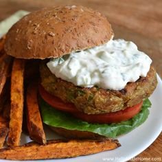 Indian-Spiced Quinoa Chickpea Burgers | Hello Little Home