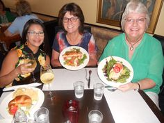 The gals enjoyed a great meal at the Cozy Grape in Montgomery, Texas this week!