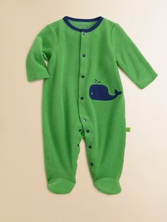 a whale of a...footie? That doesn't sound right but still super cute! via Saks