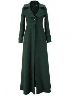 Fabulous Lapel Plain Overcoats