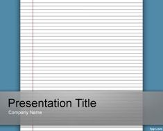 Lined Paper Template for PowerPoint #education #powerpoint #template