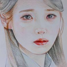 Portrait Sketches, Pencil Portrait, Portrait Art, Art Sketches, Portraits, Korean Painting, Painting & Drawing, Kpop Drawings, Art Drawings