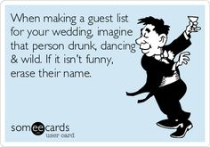 When making a guest list for your wedding