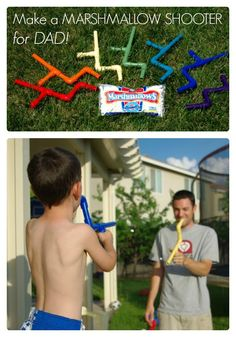 Make a Marshmallow Shooter for Fathers Day at B-InspiredMama.com   #DIY #kids #fathersday