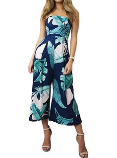 VIEWIM Women's Summer Floral Off Shoulder Strapless Vintage Romper |Spring Outfit Ideas Casual