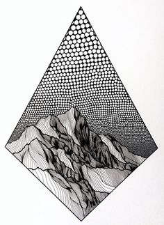 Pointillist Line Drawings of Mountains by Christa Rijneveld mountain tattoo Artist Draws Countless Lines and Dots to Capture the Majestic Beauty of Mountains Dotted Drawings, Ink Pen Drawings, Doodle Drawings, Mountain Drawing, Mountain Tattoo, Line Art Tattoos, Tattoo Art, Kunst Tattoos, Pen Art