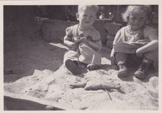 Vintage Photo  Children Playing In Sand Pit  by foxandfablevintage