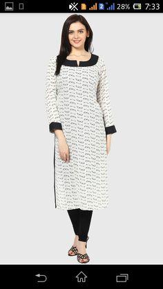 Kurti Silk Kurti Designs, Kurta Designs Women, Salwar Designs, Salwar Pattern, Kurti Patterns, Pretty Dresses, Lace Dresses, Indian Dresses, Girls Dresses