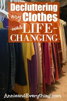 Do you struggle with choosing what to wear each day?  Read about how decluttering my clothes has simplified the process!