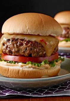Gourmet Chipotle Burgers – Ground beef, chipotle peppers, cilantro and garlic mixed together make the ultimate patty. Just add cheese and toppings for a gourmet experience.